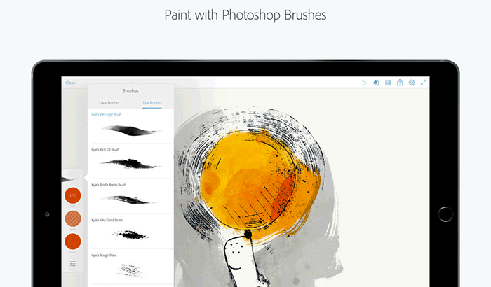 Adobe Photoshop Sketch Drawing iPad App Screenshot