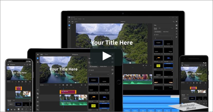 Adobe Premiere Rush Video Editing Software for Mac