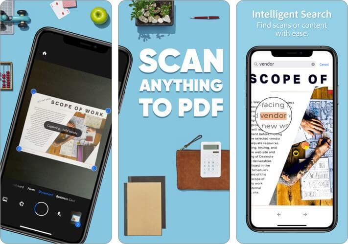 Adobe Scan Digital PDF Scanner iPhone and iPad App Screenshot