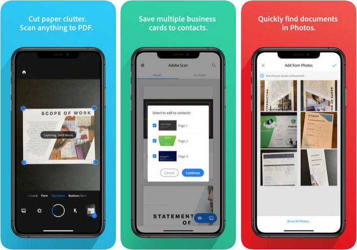 Adobe Scan iPhone and iPad App Screenshot