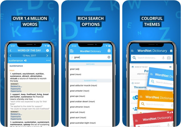 Advanced Dictionary and Thesaurus iOS App Screenshot