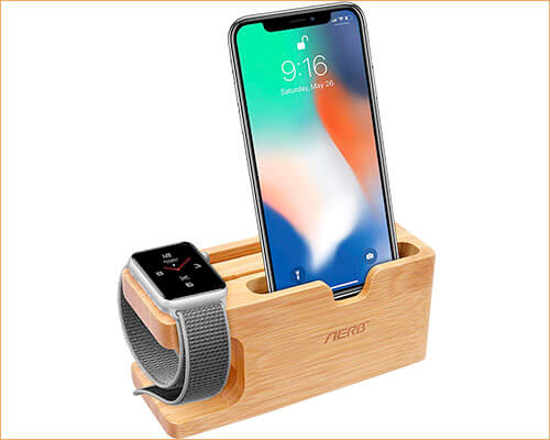 Aerb iPhone SE and Apple Watch Stand