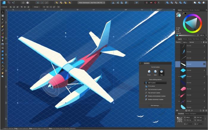Affinity Designer Mac Drawing App Screenshot