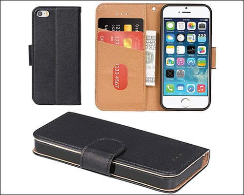 Aicoco Leather Case for iPhone SE and iPhone 5s
