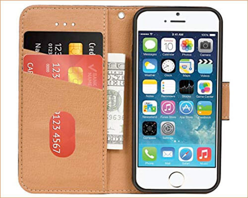 Aicoco iPhone SE and iPhone 5s Wallet Case