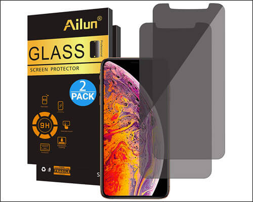 Ailun Privacy Screen Protector for iPhone Xs Max