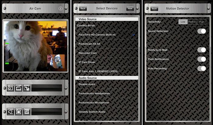 Air Cam Live Video iPhone and iPad App Screenshot