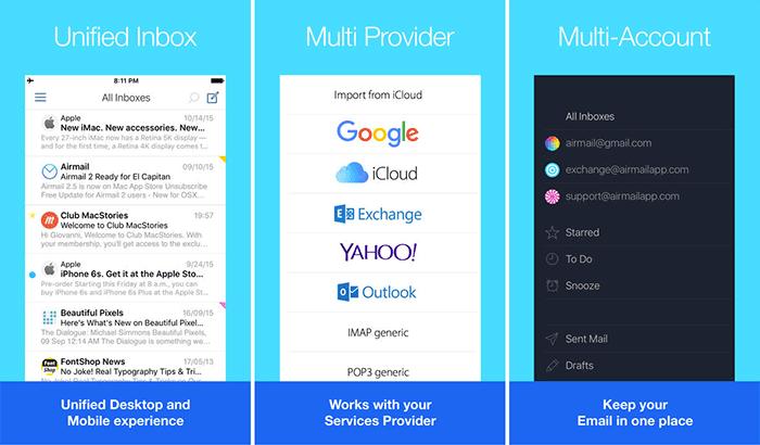 Airmail Drag and Drop iPad App Screenshot
