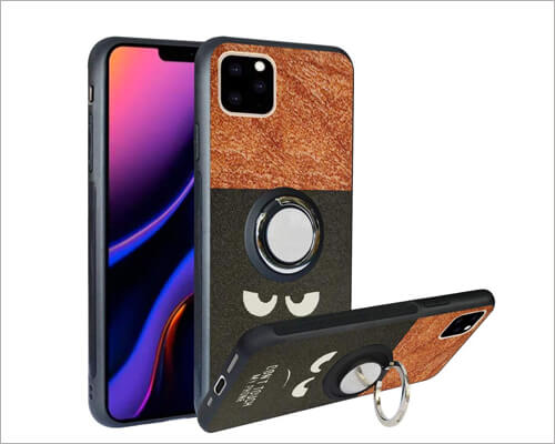 Alapmk Rotating Ring Kickstand Case for iPhone 11 Pro Max