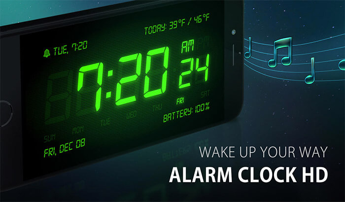 Alarm Clock HD iPhone and iPad App Screenshot