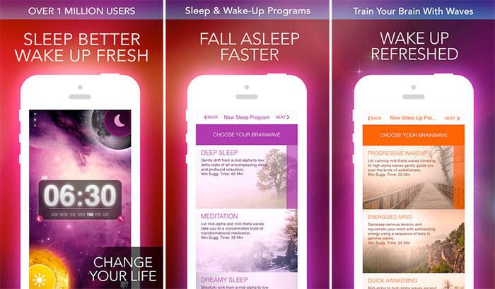 Alarm Clock Sleep Sounds Free iPhone and iPad App Screenshot