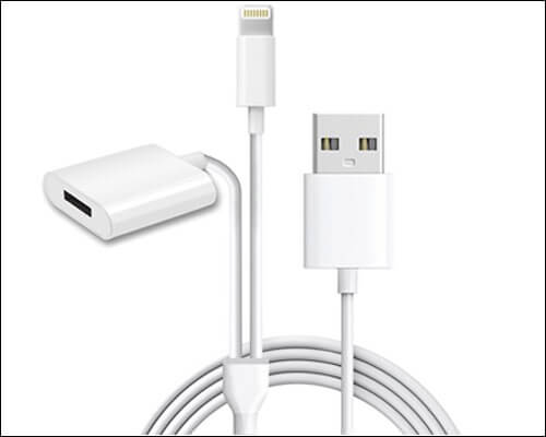 Alfzero Apple Pencil Charging Adapter 2 in 1 Cable