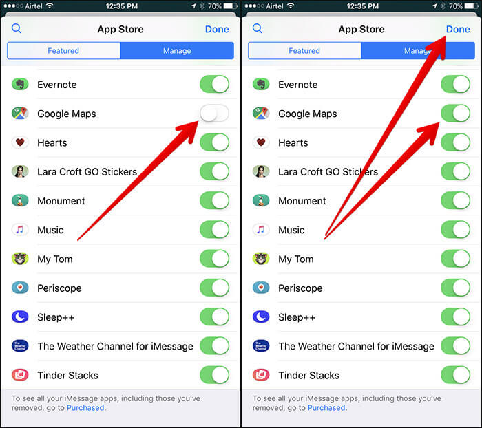 Allow iMessage to Access Google Maps on iPhone