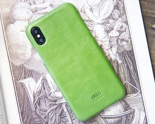 Alto iPhone X Original Leather Case Lime