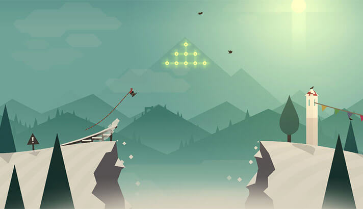 Alto's Adventure iPhone and iPad One-Handed Game Screenshot