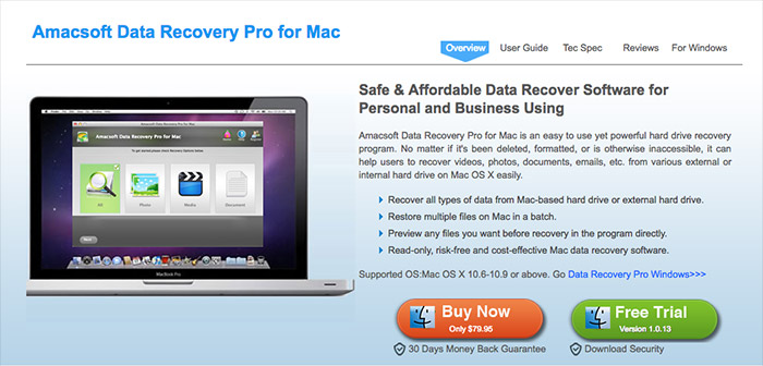 Amacsoft Data Recovery for Mac