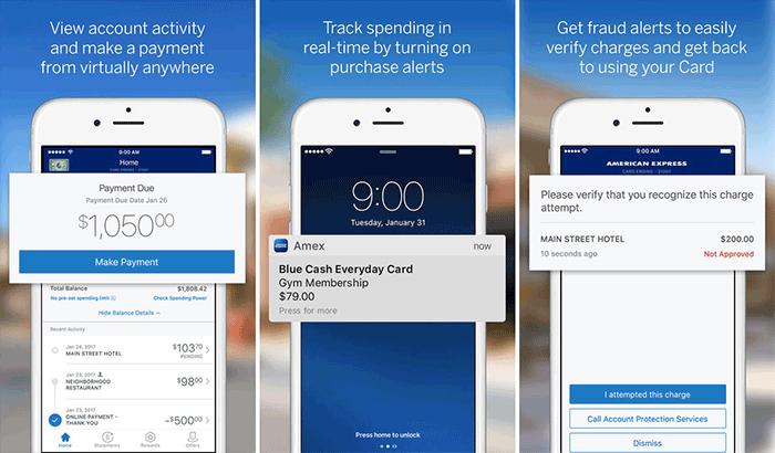 American Express iPhone App Screenshot
