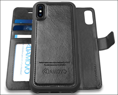 Amovo iPhone Xs Max Magntic Wallet Case