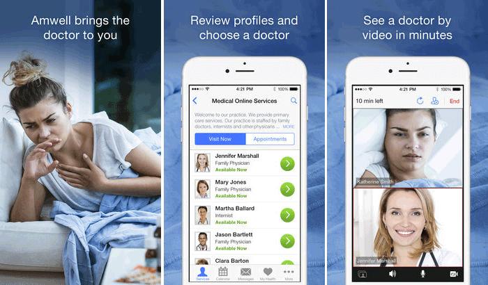 Amwell iPhone and iPad App Screenshot