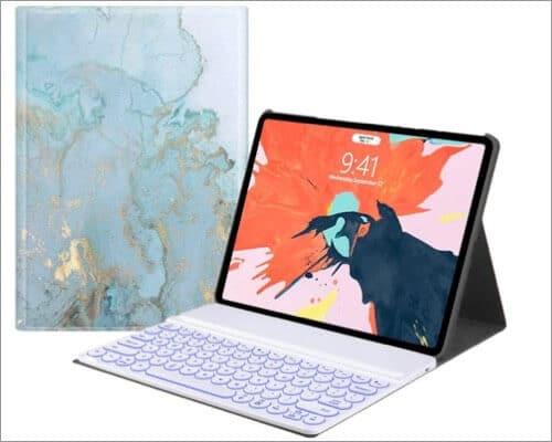 AnMengXinLing 12.9-inch iPad Pro 2020 Designer Keyboard Case