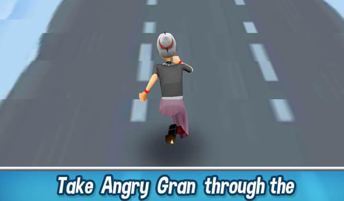 Angry Gran Run Endless Runner iPhone and iPad Game Screenshot