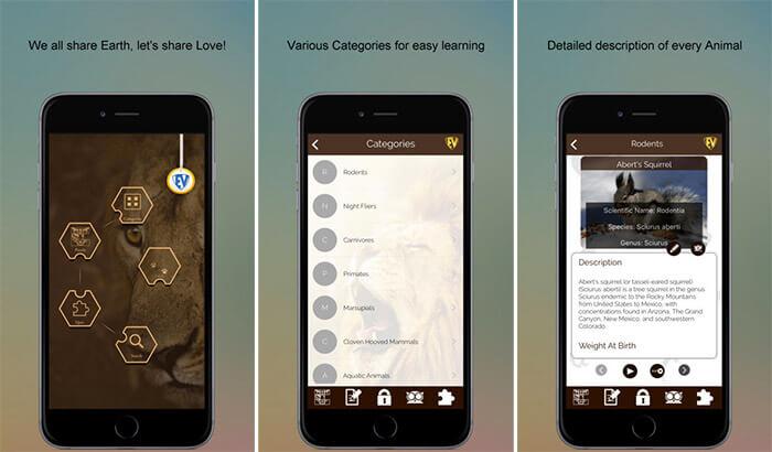 Animals Encyclopedia iPhone and iPad App Screenshot