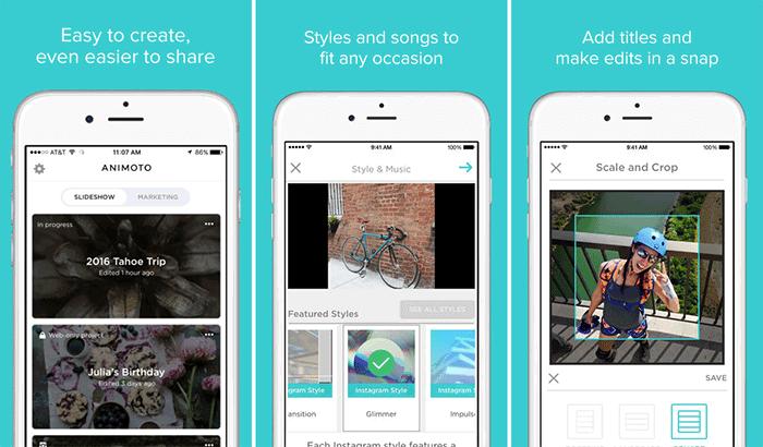 Animoto Video Slideshow Maker iPhone App Screenshot