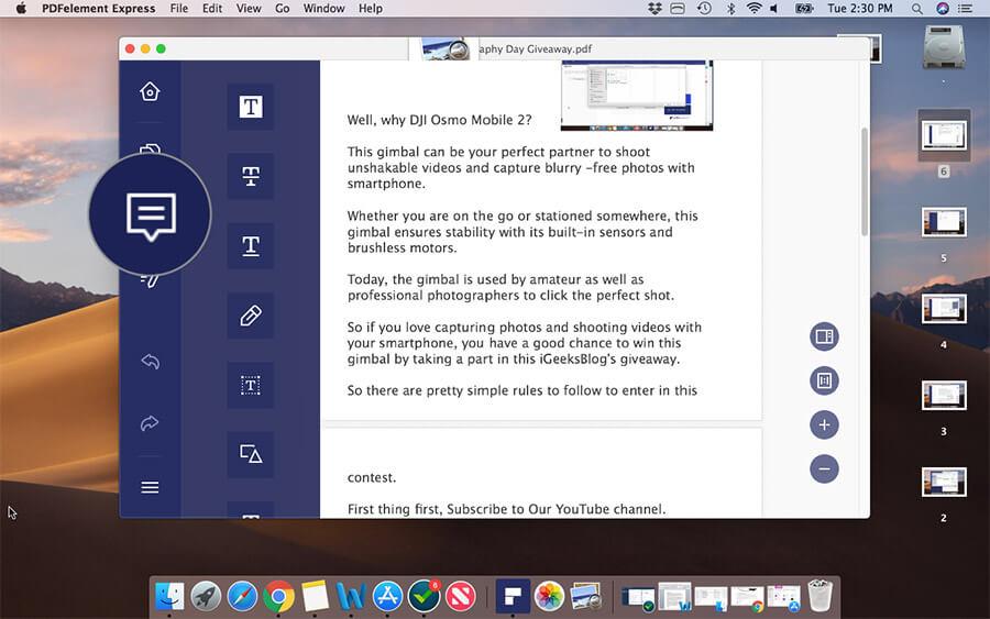 Annotate PDF on Mac Using PDFelement Express