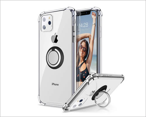 Ansiwee iPhone 11 Pro Ring Holder Case