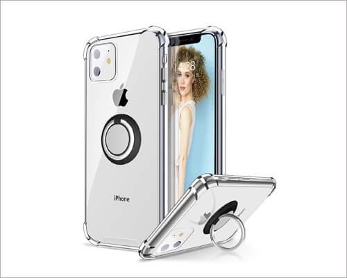 Ansiwee iPhone 11 Ring Holder Case
