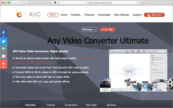 Any Video Converter App for Mac