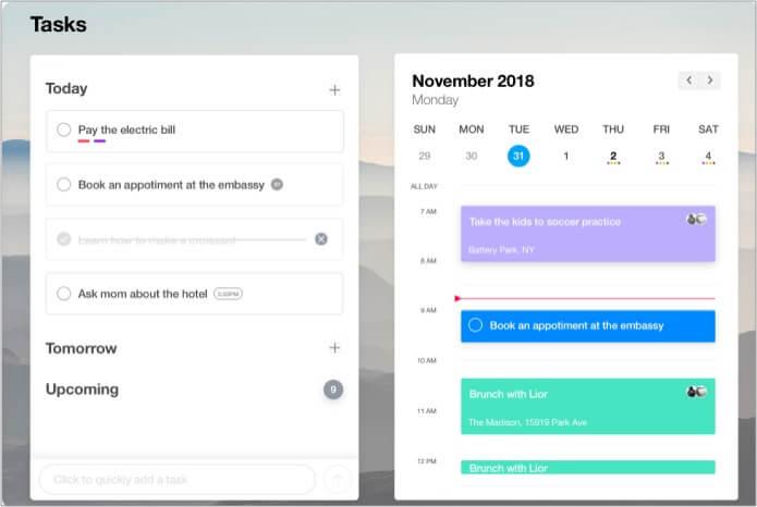 Any.Do beste Kalender-App für Mac