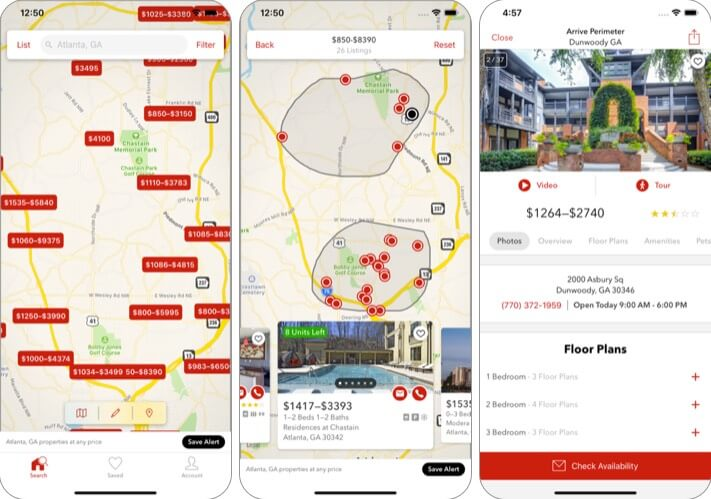 Apartments by Apartment Guide iPad and iPhone App Screenshot