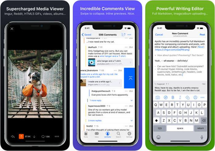 Apollo for Reddit iPhone and iPad App Screenshot