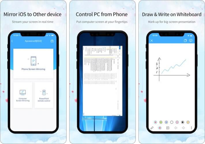 ApowerMirror iPhone and iPad App Screenshot