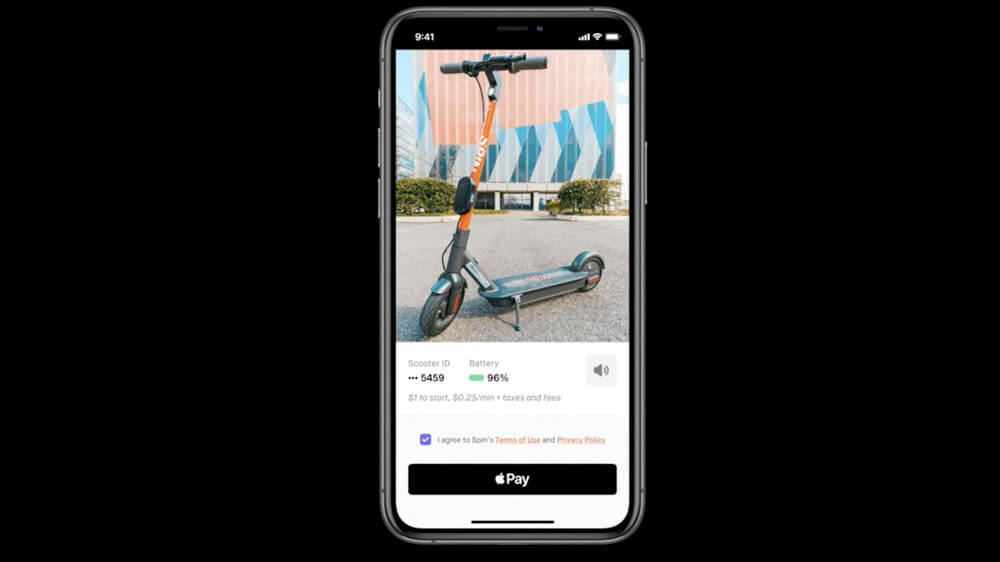 App clips work with Apple Pay