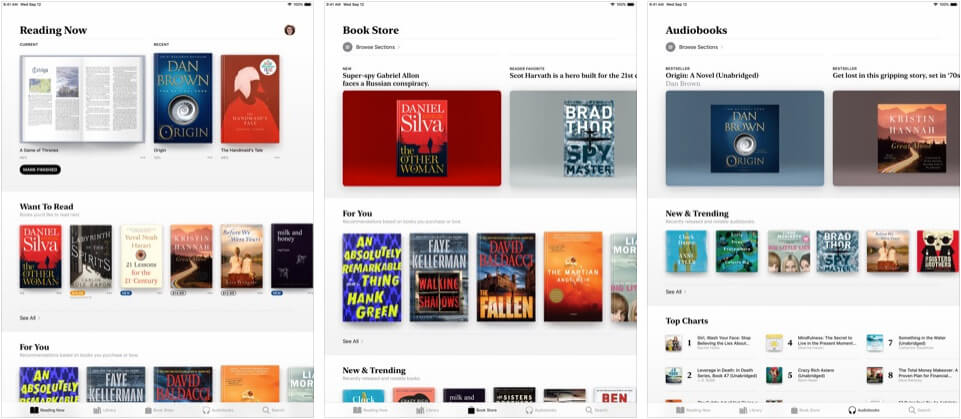 Apple Books Lifestyle iPad App Screenshot
