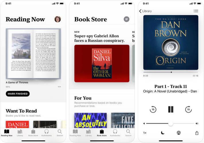 Apple Books eBook Reader iPhone and iPad App Screenshot