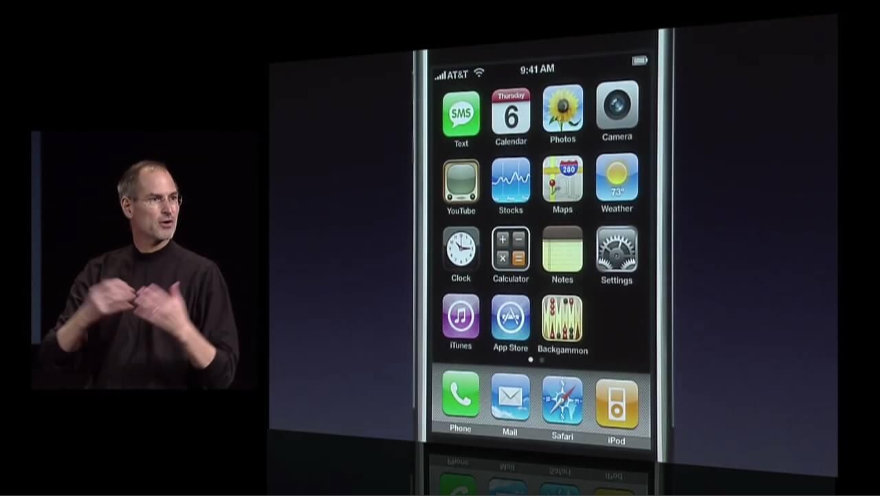 Apple CEO Steve Jobs announced iPhone