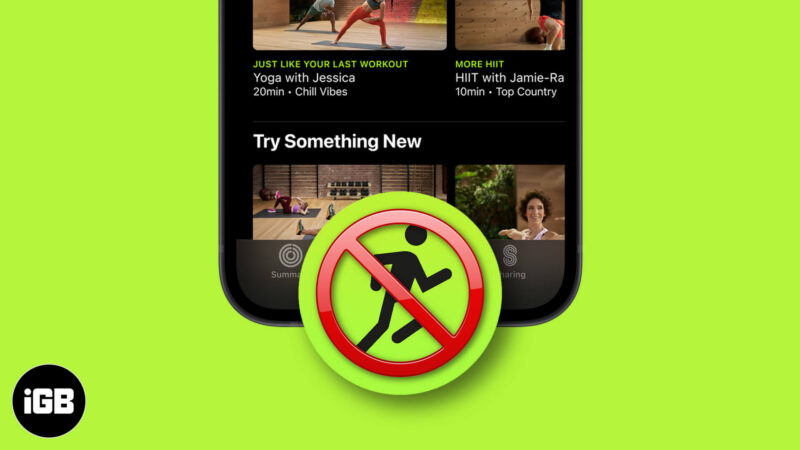Apple Fitness Plus Not Showing Up