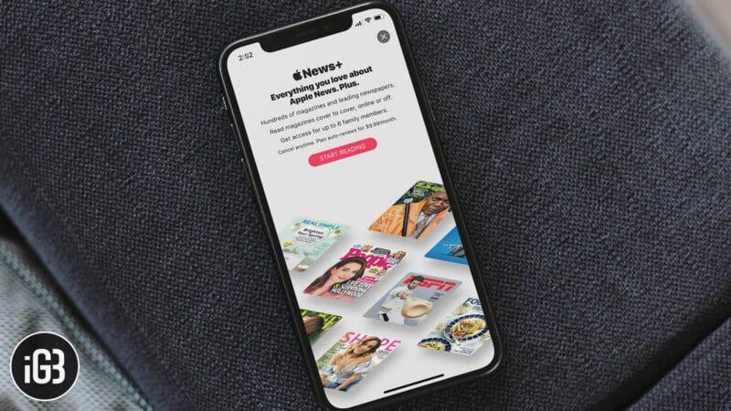 Apple News+ Magazines List