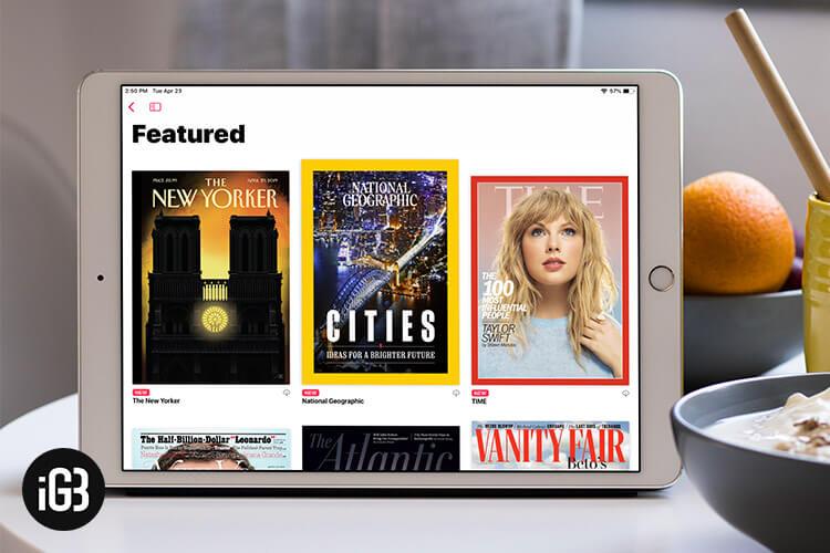 Apple News Plus Featured Magazine