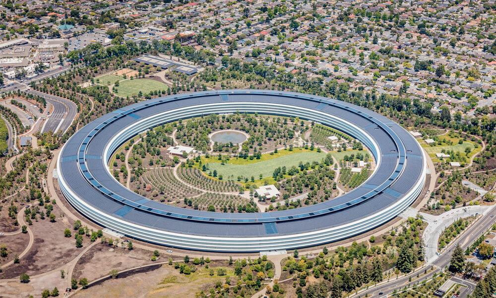Apple Park designed by Jony Ive