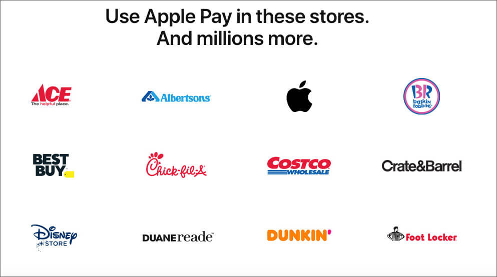 Apple Pay Accept Stores, Websites, and Apps