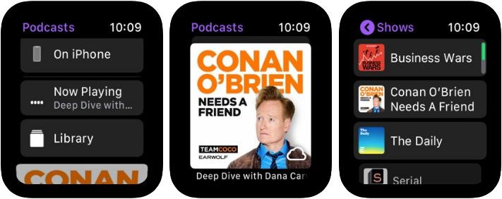 Apple Podcasts Apple Watch App Screenshot