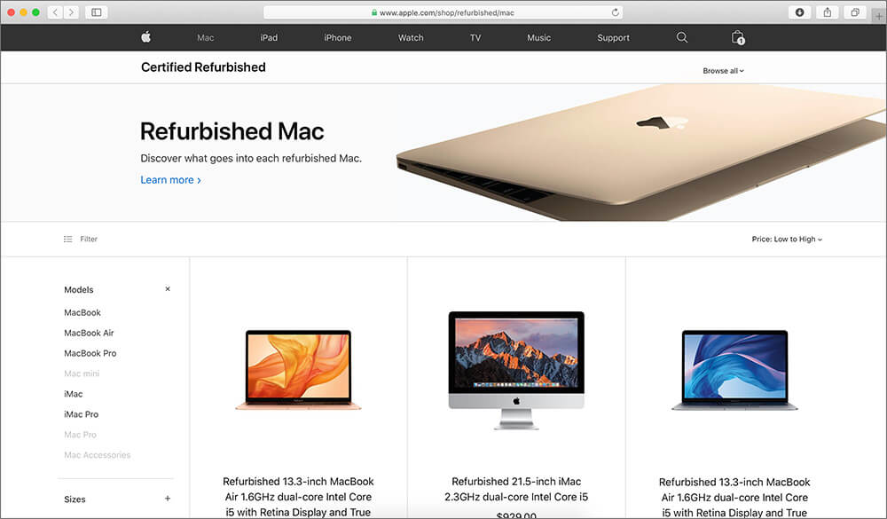 Apple Refurbished Store is Best Places to Buy used Macbook
