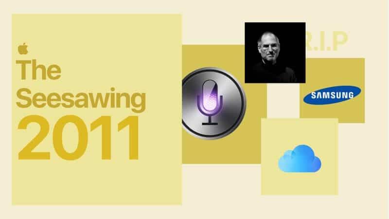 Apple Seesawing in 2011