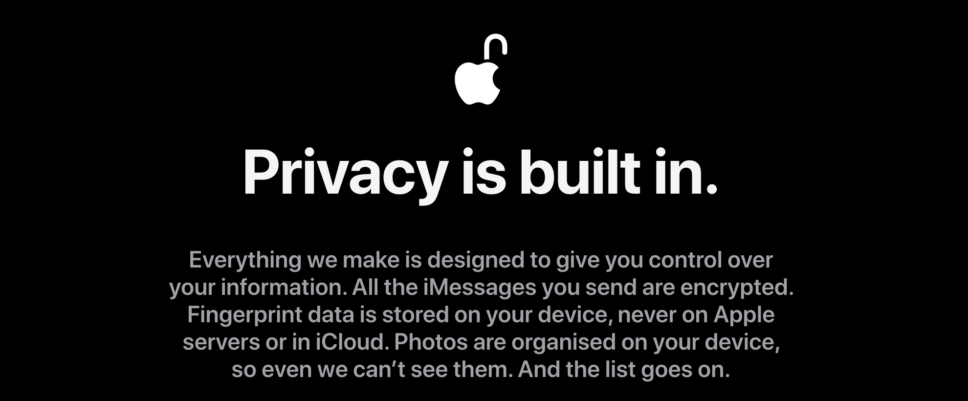 Apple's Privacy and Security