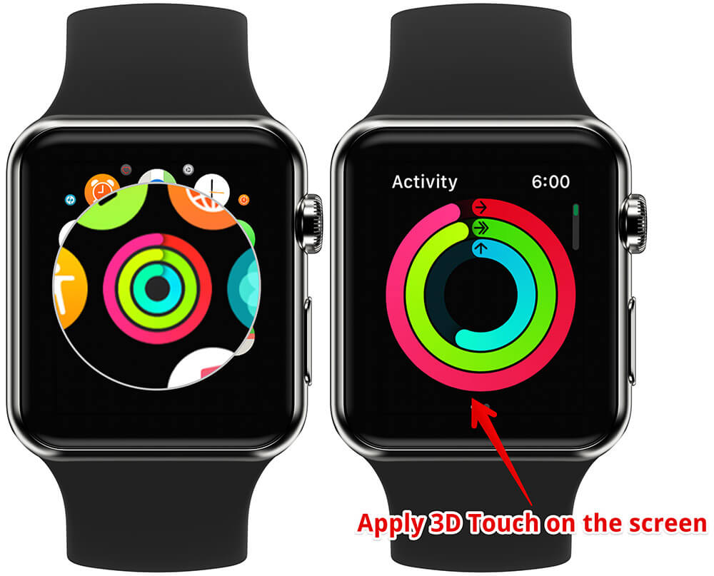 Apply 3D Touch on Activity App Screen on Apple Watch