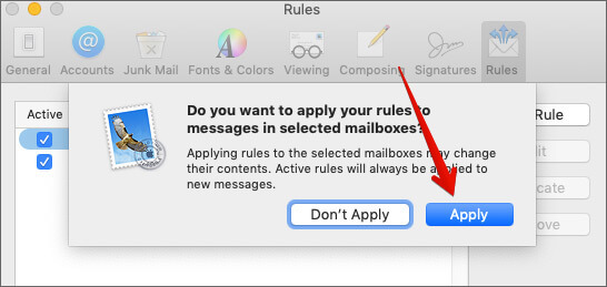 Apply Color Code in Mail App on Mac
